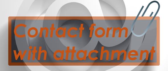 Contact form con allegato